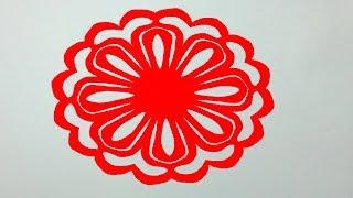 Diy paper borderhow to make easy paper cutting border design step how to make simple paper cutting flowerspaper cutting design for home decor diy mightylinksfo