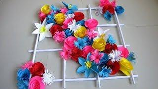 DIY Simple Home Decor Wall Decoration 18 Hanging Flower Paper Craft Ideas