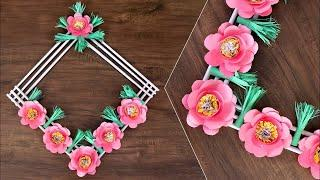 How to make easy beautiful paper stick flower handcraft for home paper rose flower wall decor showpiece making at home how to make paper flower mightylinksfo
